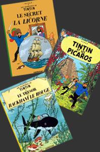 Les aventures de Tintin – 3 volumes – 10, 11 et 22