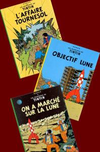 Les aventures de Tintin – 3 volumes – 15, 16 et 17