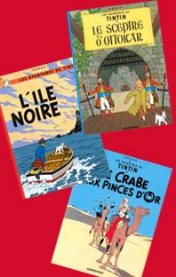 Les aventures de Tintin – 3 volumes – 6, 7 et 8