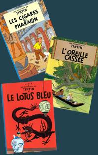 Les aventures de Tintin – 3 volumes – 3, 4 et 5