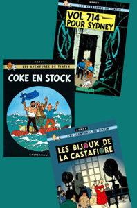 Les aventures de Tintin – 3 volumes – 18, 20 et 21